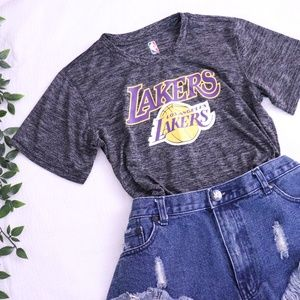 Lakers Dark Grey Tee S